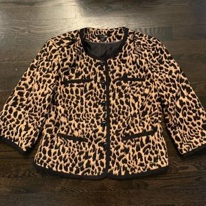 East 5th Leopard Print Blazer. Size Large